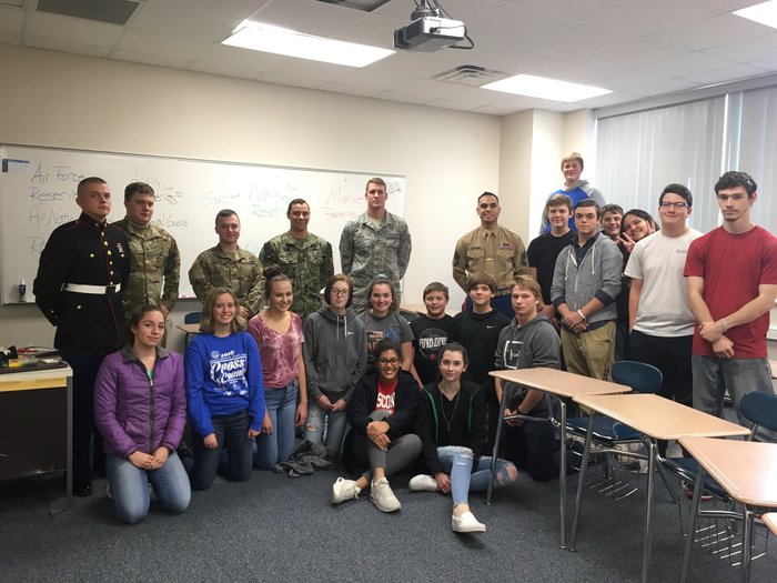 GHS Meets the Military Recruiters