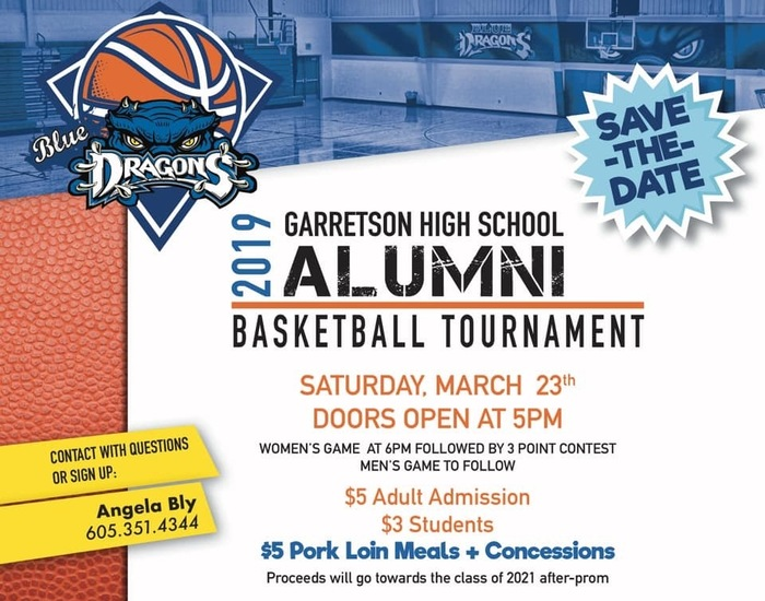 Flyer for GHS Alumni Basketball