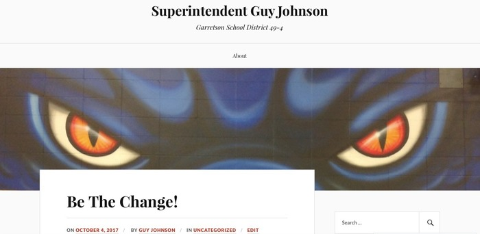 Superintendent's Blog - Be The Change!