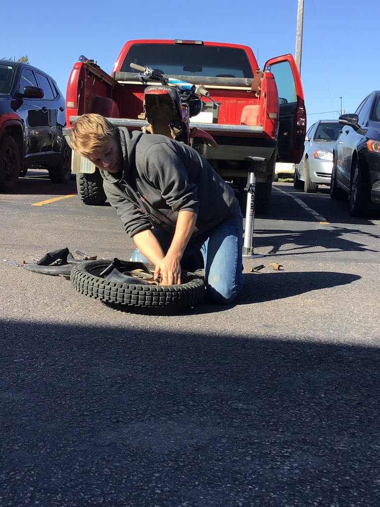 Sean shows how to replace tubing in a tire.