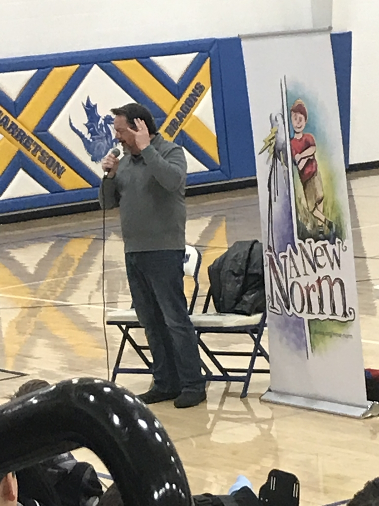 """A New Norm"" today at Garretson Schools from local author Tom Roberts."