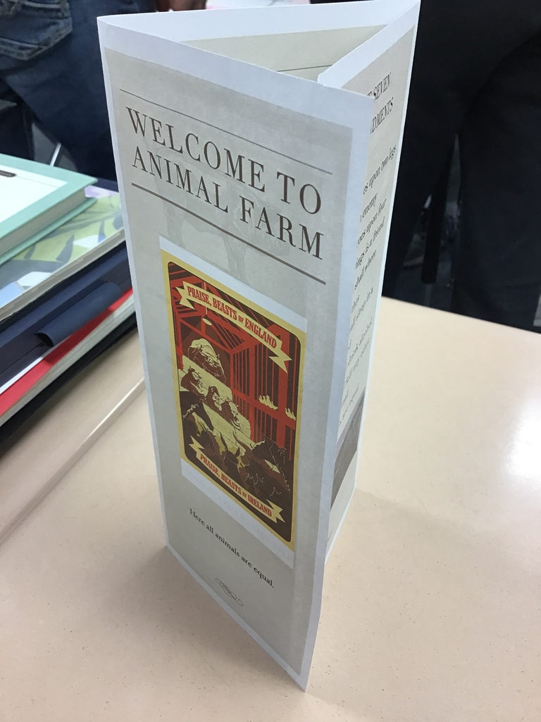 Student created Animal Farm brochure
