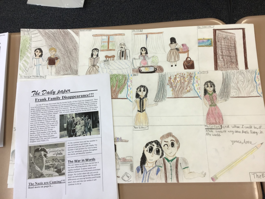 Lit Circle Activities (Comic strip and Newspaper)